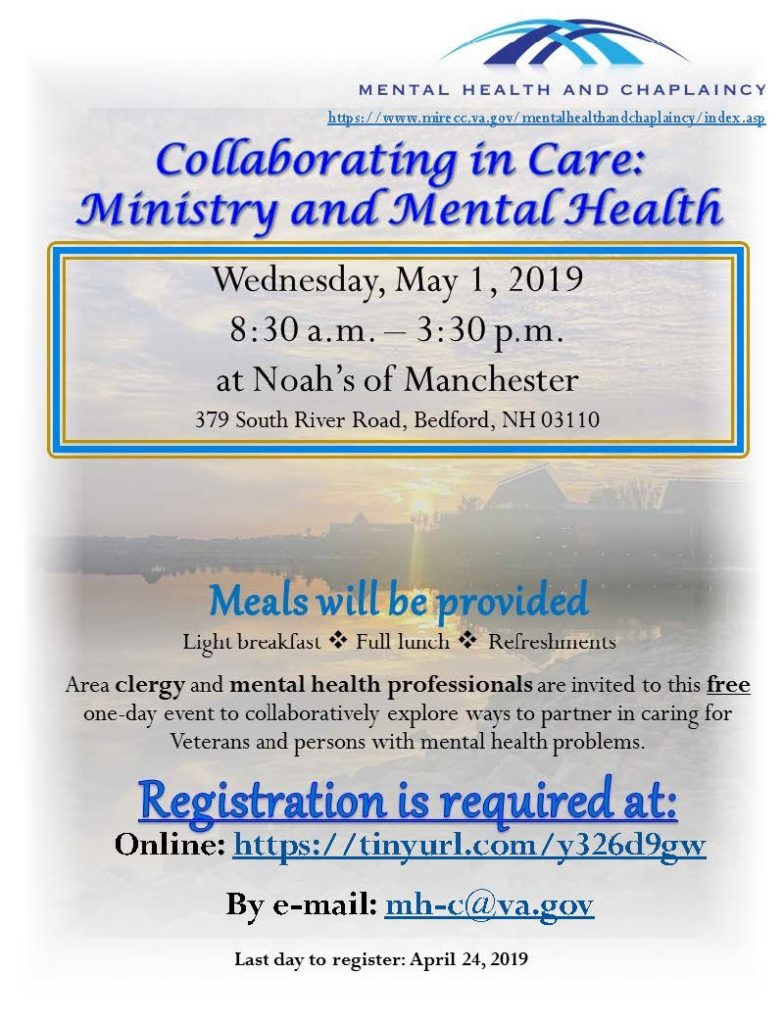 Upcoming Event:  Collaborating in Care – Ministry and Mental Health